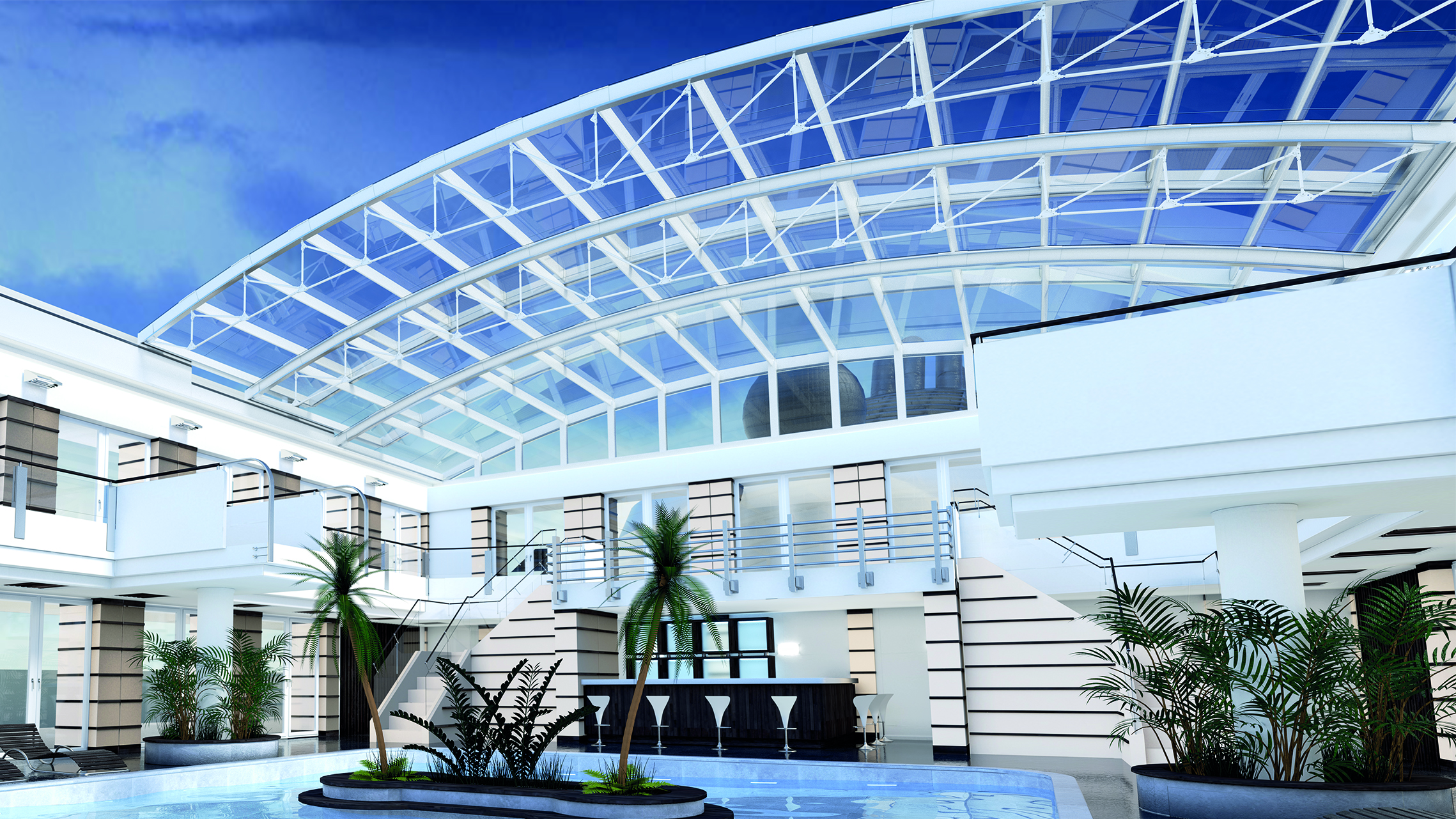 Composite Glass Sliding Roof